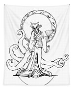 Kitsune Lady Tapestry