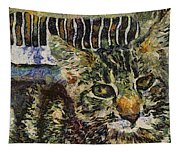 Kitty Vangoghed Tapestry