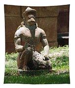 Kneeling Monkey Tapestry