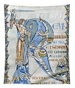 Knight And Monster Tapestry