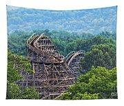 Knobels Wooden Roller Coaster  Tapestry