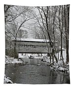 Knox Valley Forge Covered Bridge In Winter Tapestry