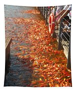 Koi Fishes In Feeding Frenzy Part Two Tapestry