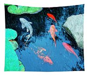 Koi Pond 1 Tapestry