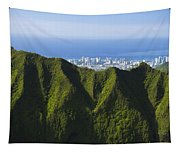 Koolau Mountains And Honolulu Tapestry