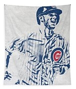 kris bryant CHICAGO CUBS PIXEL ART 2 Tapestry