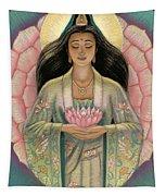 Kuan Yin Pink Lotus Heart Tapestry