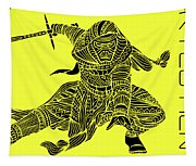 Kylo Ren - Star Wars Art - Yellow Tapestry