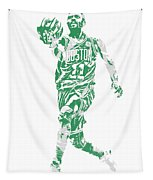Kyrie Irving Boston Celtics Pixel Art 43 Tapestry