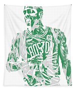 Kyrie Irving Boston Celtics Pixel Art 7 Tapestry