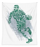 Kyrie Irving Boston Celtics Water Color Art 2 Tapestry