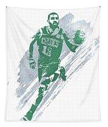 Kyrie Irving Boston Celtics Water Color Art 4 Tapestry