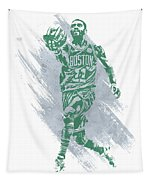 Kyrie Irving Boston Celtics Water Color Art Tapestry