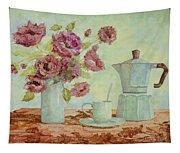 La Caffettiera E I Fiori Amaranto Tapestry