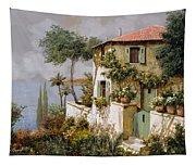 La Casa Giallo-verde Tapestry