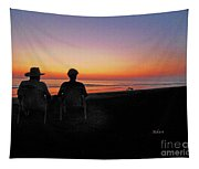 la Casita Playa Hermosa Puntarenas Costa Rica - Sunset Happy Couple Tapestry