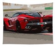 La Ferrari - Rear View Tapestry