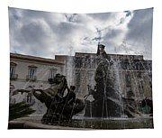 La Fontana Di Diana - Fountain Of Diana Silver Jets And Sky Drama Tapestry