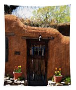 La Puerta Marron Vieja - The Old Brown Door Tapestry