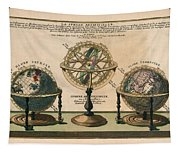 La Sphere Artificielle - Illustration Of The Globe - Celestial And Terrestrial Globes - Astrolabe Tapestry