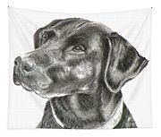 Lab Charcoal Drawing Tapestry