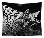 Lacy Black And White Tapestry