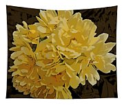 Lady Banks Rose Cluster Tapestry