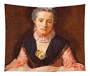 Lady In A Pink Silk Dress Tapestry
