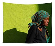 Lady In Green Tapestry
