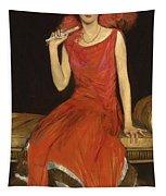 Lady In Red - Mrs Owen Barton Jones Tapestry
