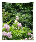 Lady In Salzburg Garden Tapestry