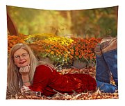 Lady In The Leaves Tapestry