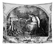 Lady Liberty Mourns During The Civil War Tapestry