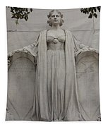 Lady Liberty On Alamo Monument Tapestry