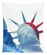 Lady Liberty With French Flag Tapestry