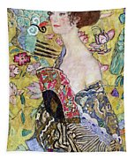 Lady With A Fan Tapestry