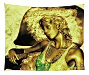 Lady With Hat Tapestry