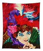 Lady With The Red Hat Tapestry