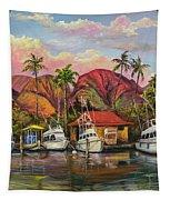 Lahaina Harbor Sunset Tapestry by Darice Machel McGuire