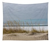 Lake Erie Ice Blanket With Sand Dunes And Dry Grass Tapestry