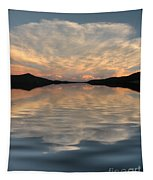 Lake Front Sunset Tapestry