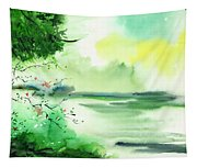 Lake In Clouds Tapestry
