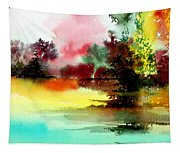Lake In Colours Tapestry