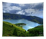 Lake In The Azores Tapestry