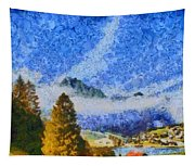 Lake In The Middle Of Swiss Beauty Tapestry