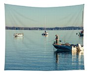 Lake Mendota Fishing Tapestry