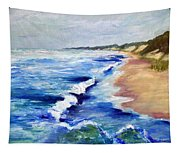 Lake Michigan Beach With Whitecaps Tapestry