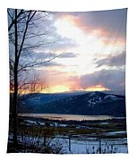 Lake Okanagan Sunset At Vernon Tapestry