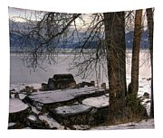 Lake Pend D'oreille At Humbird Ruins 1 Tapestry