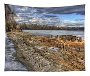 Lake Pend D'oreille At Humbird Ruins 2 Tapestry